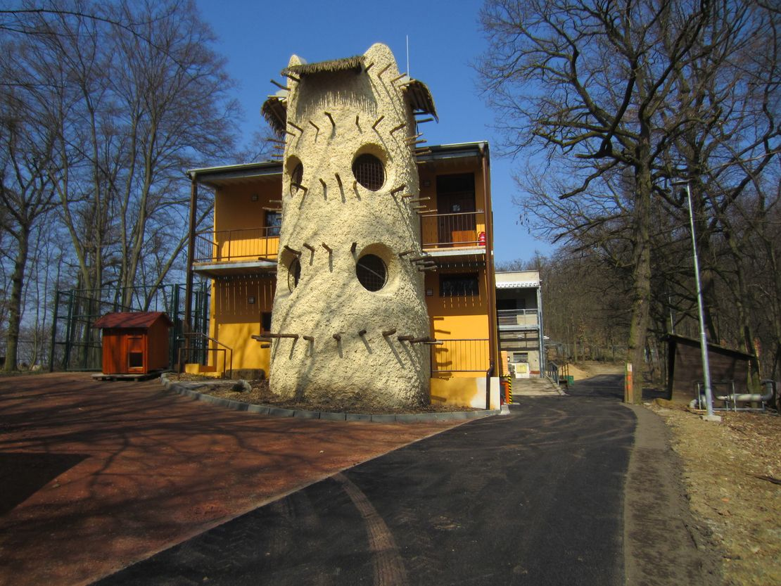 Přístavba pavilonu žiraf v Zoo Brno