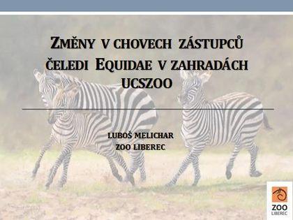 Přehled změn v chovu koní, oslů a zeber v československých zahradách v roce 2018